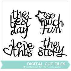 Brushed Titles by Blue Star Designs by Two Peas @2peasinabucket