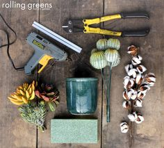 What you'll need to create a stunning arrangement out of silks!   Rolling Greens