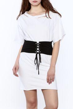 9e25387cbbe Shoptiques Product  White T-Shirt Dress - main White Style