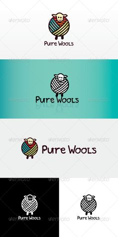 Buy Pure Wool Stock Logo Template by vecras on GraphicRiver. Iconic graphic of a sheep covering her body with multi-coloured wool. It's body made with wool ball, representing war. Logo Branding, Branding Design, Sheep Logo, Crochet Mittens Free Pattern, Logo Shapes, Knitting Blogs, Photoshop, Animal Logo, Logo Design Inspiration