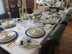 """Tablescape using vintage Lenox """"The Colonial"""" dinnerware"""