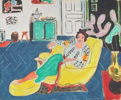 Henri Matisse, French (1869 – 1954), Woman Seated in an Armchair, 1940. Oil on canvas; overall: 54 x 65.1 cm (21 1/4 x 25 5/8 in.), framed: 73 x 84.4 x 5.7 cm (28 3/4 x 33 1/4 x 2 1/4 in.). Given in loving memory of her husband, Taft Schreiber, by Rita Schreiber, 1989.31.1. © 2014 Succession H. Matisse / Artist Rights Society (ARS), New York.