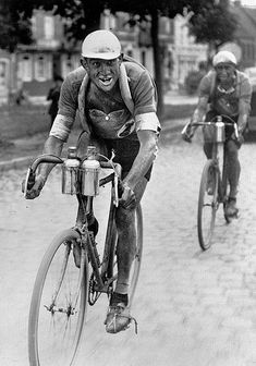 Tour de France, no mechanics in cars for these guys. Gotta carry your own spares!