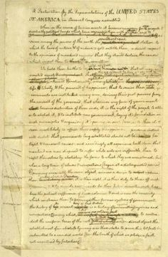 Thomas Jefferson's draft of the Declaration of Independence