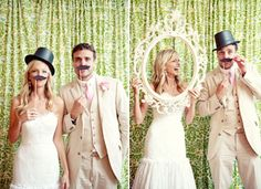 {Love Notes}. El blog de bodas de Vintage & Chic: {Ideas para decorar el photocall o photobooth de tu boda}