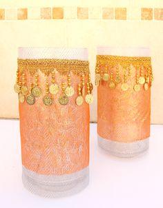 Sukkot Jar Centerpieces