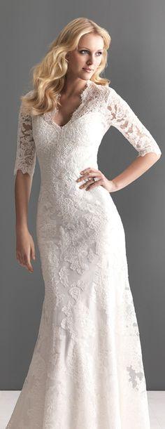 wedding dresses for older brides | wedding dress with sleeves
