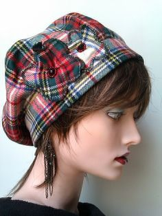 Scottish Tartan Fabric Hat.