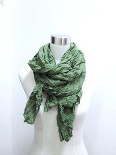 green woman scarf fashion spring summer wrinkle shawl to block sun large scarf 190*90cm beach scarf free shipping. $7.99