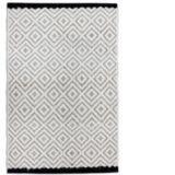 Black Creek Diamond Wool/Jute Rug, 20 x 30-in |