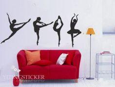 ballet dance Vinyl Home Wall Art Decal Sticker by yitingsticker, $22.99
