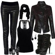 Fierceness in All Black!!
