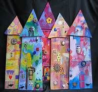 house mixed media collage - Bing Images