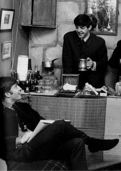 John W. O. Lennon♥♥S. J. Paul McCartney♥♥When are you free to take some tea with me - Paul behind the bar