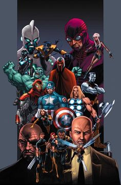 Friends and Foes of the Ultimate Marvel Universe Ultimates & X-Men by Mark Bagley, Morry Hollowell!