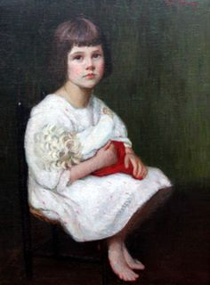 Lilla Cabot Perry (American, 1848-1933) : Portrait of Edith, 1915.