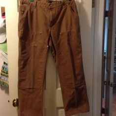 I just added this to my closet on Poshmark: Women's Carhartt Heavy Canvas Work Pants. Price: $21 Size: 18