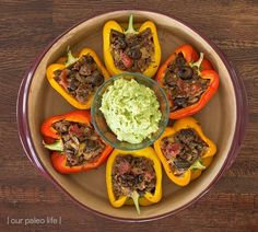Stuffed Pepers {grain-free; dairy-free; whole30; paleo} by Our Paleo Life