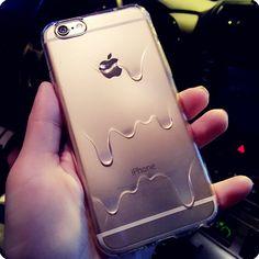 Cool Melt Transparent Case Cover for Apple iPhone 5s 5 SE 6 6S 6 Plus 6S Plus iPhone 7 7S 7Plus 7S Plus