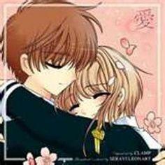 Sakura y Shaoran!!! so cute!!...