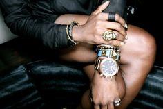 jewelry, gold watch
