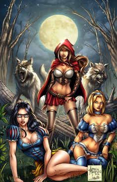 Grim Fairy Tales #Zenoscope- Red Riding Hood, Snow White and Cinderella