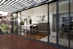 Woodland Grey stacked sliding doors