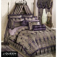 My new bedding----so beautiful! Purple Palazzo Comforter Bedding by J Queen New York