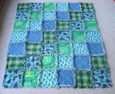 rag quilt. Make from flannel shirts.