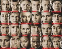 Here are the odds of each tribute winning the 74th Hunger Games. Some of them fight the odds and proceed farther. Some get killed earlier than guessed. Some get within their odds. Add the ones I can't find. Marvel-5-1 Glimmer-7-1 Cato-3-1 Clove-5-1 Amber-30-1 Noah-22-1 Azora-9-1 D4 Male-15-1 Foxface-Unknown, believe it or not. D5 male-8-1 Tamora-9-1 Jason-24-1 D7 female-7-1 D7 male-8-1 Savannah-8-1 D8 male-3-1 D9 female-22-1 D9 male-22-1 D10 female-10-1 D10 male-16-1 Rue-17-1 Thresh-11-1...