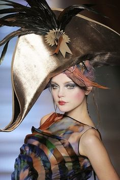 Christian Dior Haute Couture-  John Gialliano #millinery #judithm #hats