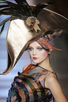 Christian Dior Haute Couture-  John Gialliano #millinery #judithm #hats