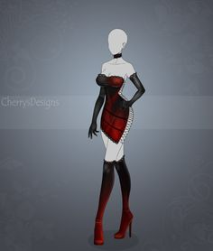 Planets themed dresses: Mars____________________________________ Don't miss any future outfit adopts! Join my group:cherrysoutfitadopts.deviantart… SB: $20...