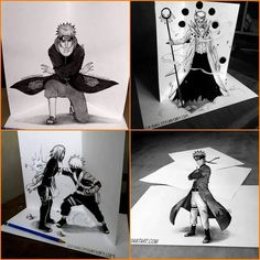 Awesome Drawings of Pain, Obito, Rin & Kakashi, Naruto Naruto Sasuke Sakura, Anime Naruto, Naruto Shippuden, Manga Anime, Naruto Art, Boruto, Naruto Drawings, 3d Drawings, Naruto Pictures
