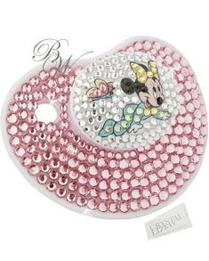 Swarovski Things: CRYSTALLIZED™ -Swarovski Elements Baby Pacifier Disney Brand 0-3 month Minni Mouses Light Rose
