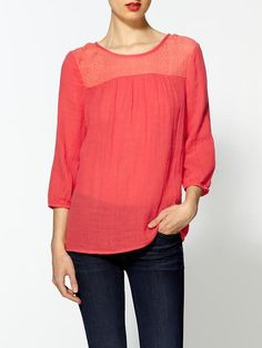 Bring some color into fall with this cozy pink blouse!