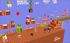 Super Mario Bros. modeled by Justin Buonvino