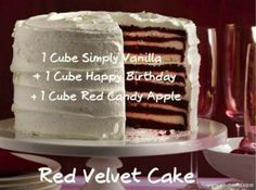 Red Velvet Cake lovers: Get out those cubes of Simply Vanilla, Happy Birthday, and Red Candy Apple.