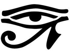 Pochoir Adhésif Home Déco 10 x 8 cm OEIL EGYPTIEN