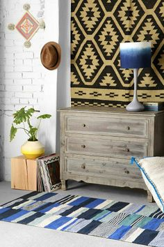 4040 Locust Pieced Strip Handmade Rug #urbanoutfitters