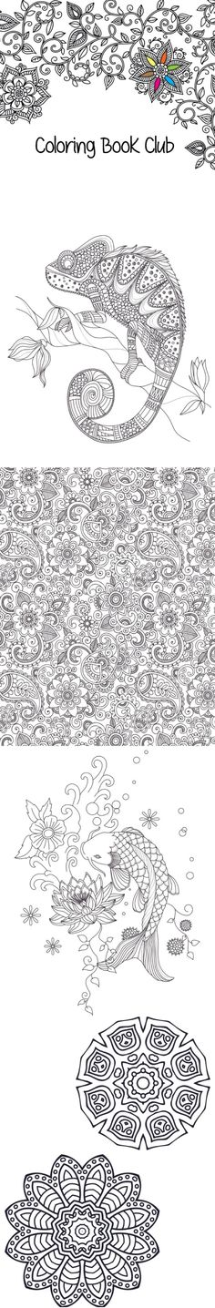 Coloring sheets perfect as a stress reliever. Take a break, color and enjoy! These designs are free for download. :)