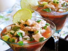Shrimp ceviche full of flavor and easy to make......Nom Nom!!