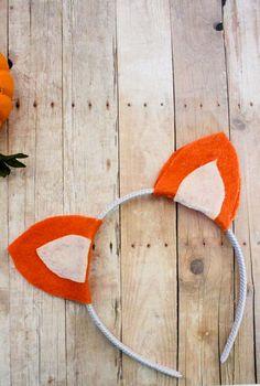 DIY no-sew Fox Ears Headband just in time for halloween! Fantastic Mr. Fox | Animal Headband | Easy Halloween Costume | Do It Your Freaking Self