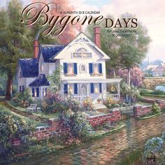 bygone days 2018 12 x 12 inch monthly square wall calendar featuring the artwork of carl - Ausatmen Fans Ef34