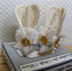 silk wedding boots Wedding Boots, Wedding Day, Silk Brocade, Shoe Boots, Shoes, Fashion Dolls, Dollhouse Miniatures, Brides, Leather