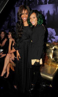 Michelle Williams and Lil' Mama at the 'Preachers of LA' Premieres in LA