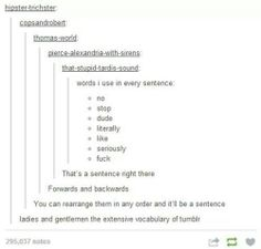 Tumblr vocabulary