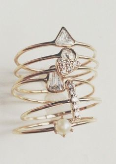 Vale Jewelry gold and diamond stackable rings Cute Jewelry, Jewelry Box, Jewelry Rings, Jewelry Accessories, Fashion Accessories, Fashion Jewelry, Jewellery Earrings, Jewellery Shops, Jewellery 2017