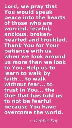 "(by jolene) ""Lord, we pray"" ~  Debbie Kay ( A beautiful prayer wrote by a beautiful soul."