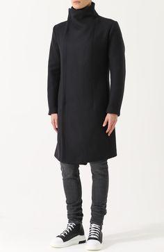 Шерстяное пальто на молнии с воротником-стойкой Overcome, черного цвета, арт. 0C09U571/FC32/PP в ЦУМ | Фото №3